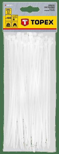 TOPEX 2,5 x 200 mm, 100 ks, biela