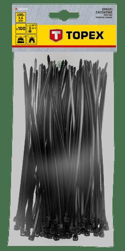 TOPEX 3,6 x 200 mm 100 ks, čierna
