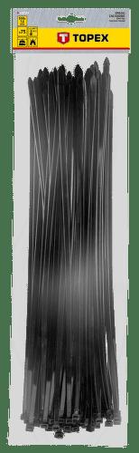 TOPEX 7,6 x 500 mm 75 ks, čierna