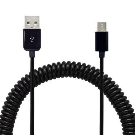 Mobilnet USB-C kábel 2A 40-240 cm zakrútený, čierna