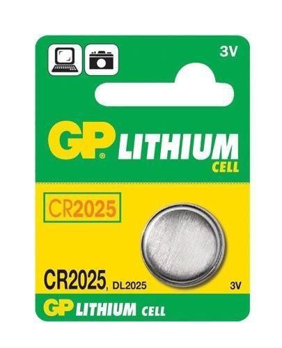 GP baterie CR-2025 3V 1ks - líthiová knoflíková baterie