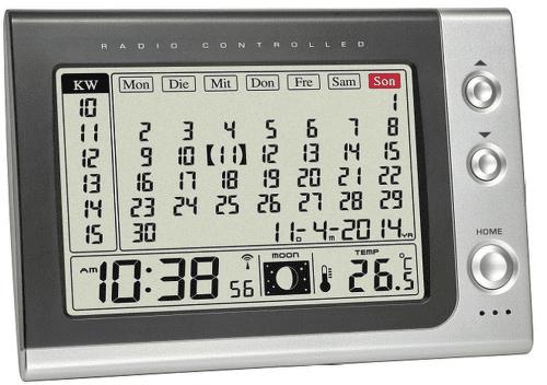 TFA 60.2529.54, Rádiobudík s kalendárom