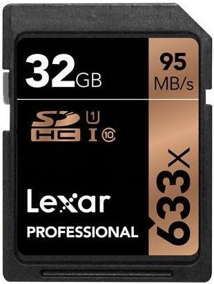 LEXAR 32GB SDHC 633x, Pamäťová karta