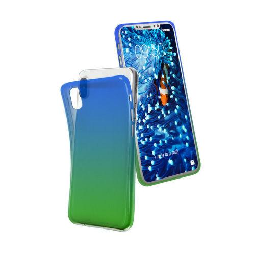SBS Cool puzdro pre Apple iPhone X a Xs, zelená/modrá
