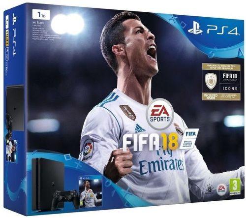 Sony PlayStation 4 Slim 1TB čierny + FIFA18 + PS Plus 14 dní