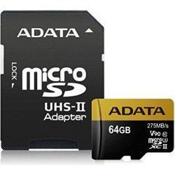A-DATA microSDHC 64 GB 275 MBS U3 CLASS 10 UHS-II