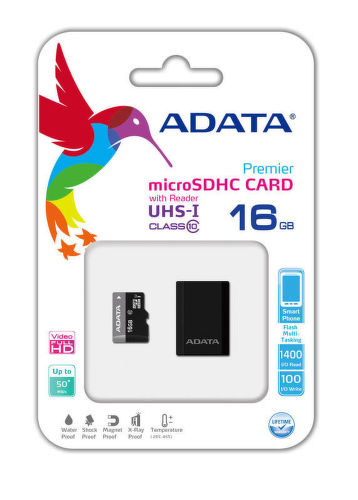 A-DATA microSDHC 16 GB 50 MBS CLASS 10 UHS-I