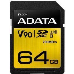 A-DATA microSDXC 64 GB 290 MBS U3 CLASS 10 UHS-II