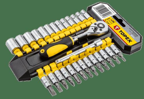 TOPEX 38D651, Sada nástrčných kľúčov 28 ks