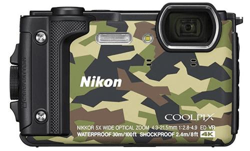 Nikon Coolpix W300, kamufláž + plávajúci popruh