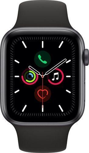 Apple Watch Series 5 44mm vesmírne sivý hliník s čiernym športovým remienkom