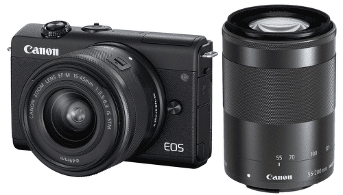Canon EOS M200 čierna + Canon EF-M 15-45mm IS STM + Canon EF-M 55-200mm IS STM