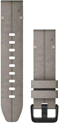 Garmin QuickFit 20 mm kožený remienok pre Fénix 6S, sivá