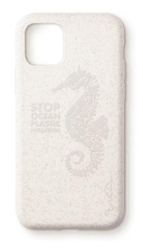 Wilma eko puzdro pre Apple iPhone 11 Pro, biela s motívom morského koníka