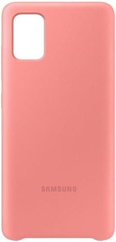 Samsung Silicone Cover pre Samsung Galaxy A71, ružová