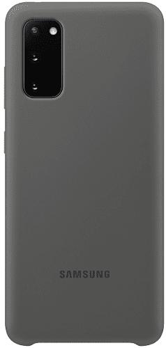 Samsung Silicone Cover pre Samsung Galaxy S20, sivá