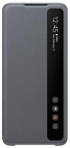Samsung Clear View Cover puzdro pre Samsung Galaxy S20 Ultra, sivá