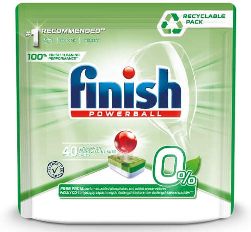 Finish Powerball Zero 0% 40 ks tablety do umývačky