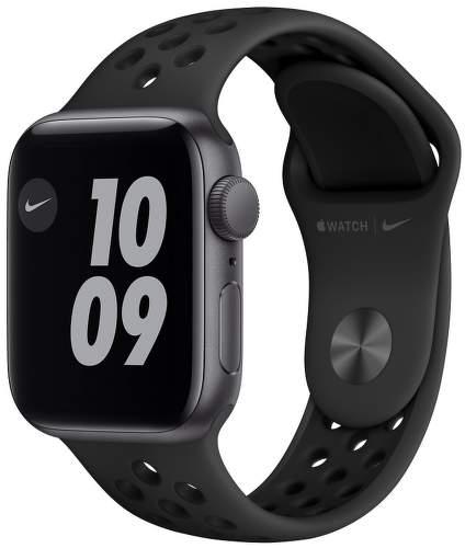 Apple Watch SE Nike 40 mm vesmírne sivý hliník / antracitový / čierny športový remienok Nike