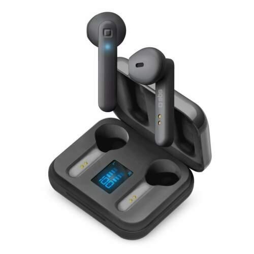 SBS Bezdrôtové slúchadla Twin Hop LCD čierna