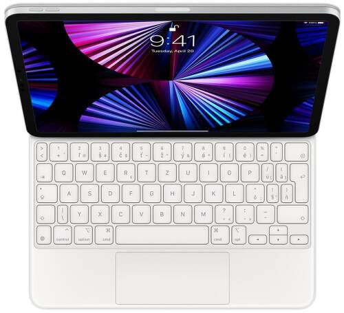 """Apple Magic Keyboard SK pre iPad Pro 11"""" 2021 MJQJ3SL/A biela"""