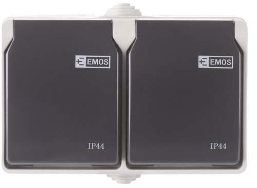 EMOS IP54, Nástenná dvojzásuvka.1