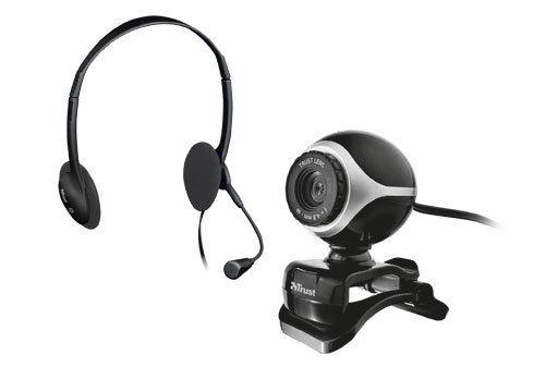 TRUST 17028 webcam + náhl. sada Exis Chatpack