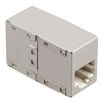 HAMA 46777 CAT 5-Adapter 2 x 8p8c(RJ 45) Socket, metal case