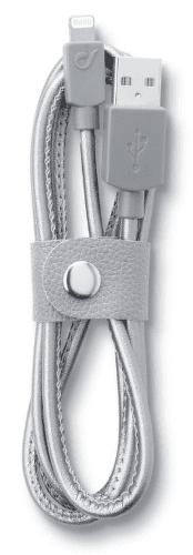 CellularLine LongLife Kábel s konektorom lightning (leather)