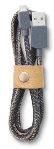 CellularLine LongLife Kábel s konektorom MicroUSB (jeans)