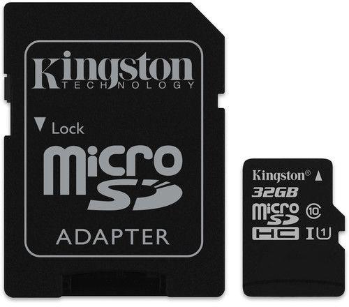 Kingston microSDHC Canvas Select 32GB + SD adaptér