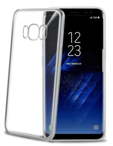 Celly Laser puzdro pre Galaxy S8+, strieborné