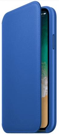Apple Leather Folio pre iPhone X, modrá