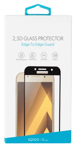 Epico 2,5D tvrzené sklo pro Samsung Galaxy A8 2018, černé