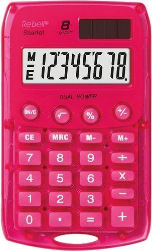 Rebell RE-StarletP BX vrecková kalkulačka ružová
