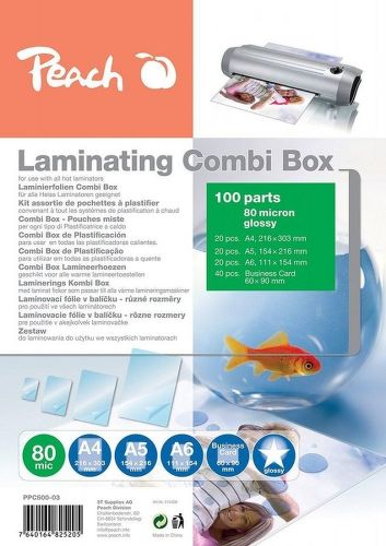Peach PPC500-03 set laminovacích fólií