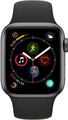 Apple Watch Series 4 40mm vesmírne šedý hliník/čierny športový remienok