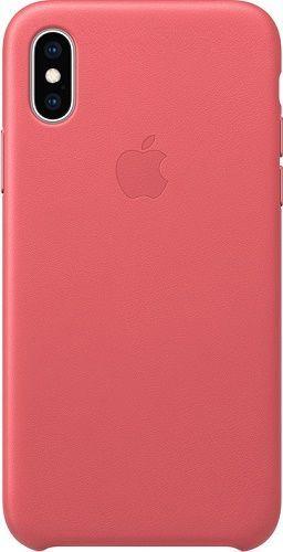 Apple kožené puzdro pre Apple iPhone XS, pivonkovo ružová