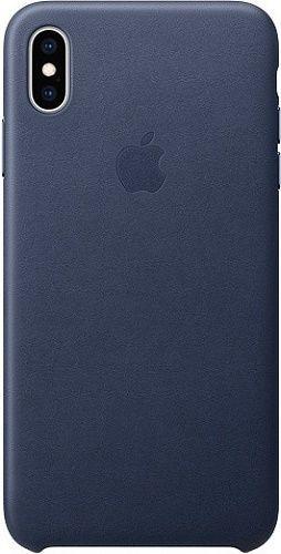 Apple kožené puzdro pre Apple iPhone XS Max, polnočná modrá