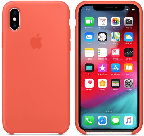 Apple silikónový kryt pre iPhone XS Max, nektarinkový