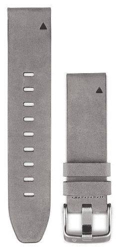 Garmin QuickFit 20 kožený remienok, šedý
