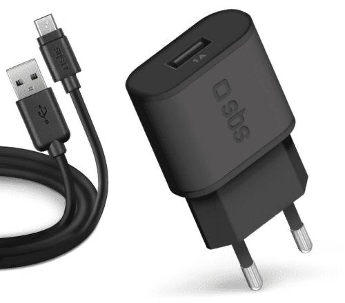 SBS USB nabíjačka 1A + microUSB kábel