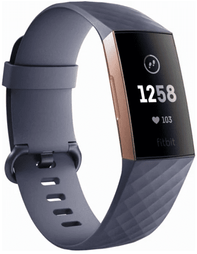 Fitbit Charge 3 ružovo-zlatý so sivým remienkom