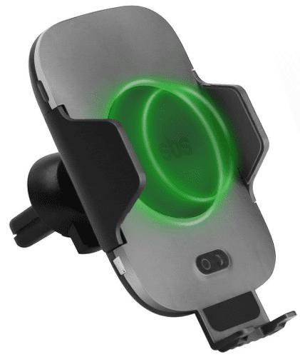 SBS držiak do mriežky s bezdrôtovým nabíjaním 10W, čierna