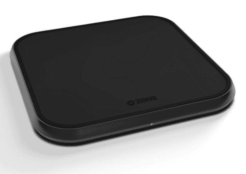 Zens Aluminium bezdrôtová nabíjačka 10 W, čierna