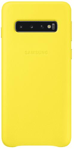 Samsung Leather Case pre Samsung Galaxy S10+, žltá