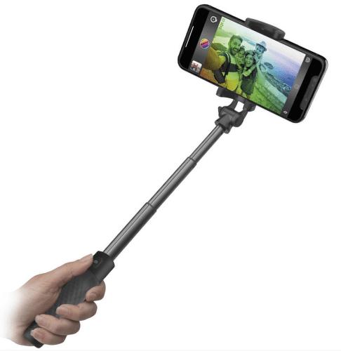 SBS bezdrôtová teleskopická selfie tyč, čierna