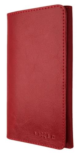 Fixed Pocket Book kožené puzdro pre Apple iPhone X a Xs, červená