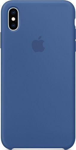 Apple silikónové puzdro pre Apple iPhone Xs Max, modrá