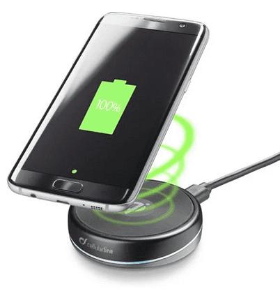 CellularLine Twist bezdrôtová nabíjačka, čierna